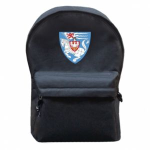 Backpack with front pocket Koszalin coat of arms