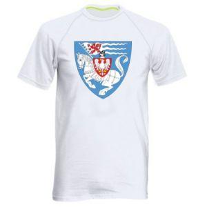 Men's sports t-shirt Koszalin coat of arms