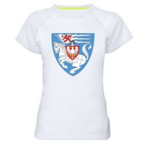 Women's sports t-shirt Koszalin coat of arms