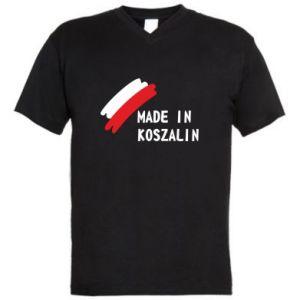 Męska koszulka V-neck Made in Koszalin