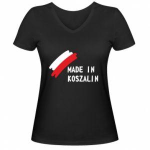 Damska koszulka V-neck Made in Koszalin