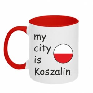 Kubek dwukolorowy My city is Koszalin
