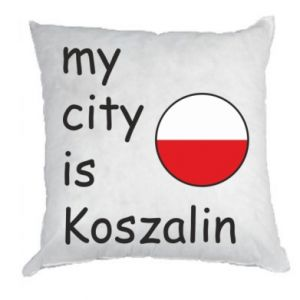 Pillow My city is Koszalin