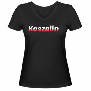 Damska koszulka V-neck Koszalin