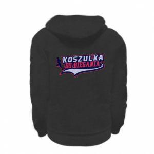 Kid's zipped hoodie % print% Running t-shirt