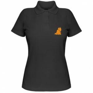 Women's Polo shirt Christmas cat