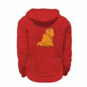 Kid's zipped hoodie % print% Christmas cat