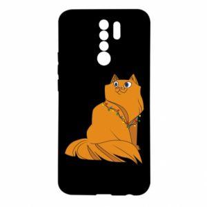 Xiaomi Redmi 9 Case Christmas cat