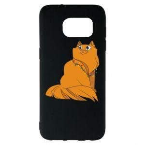 Samsung S7 EDGE Case Christmas cat