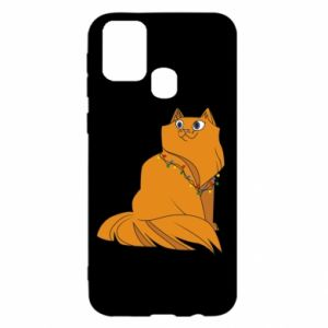 Samsung M31 Case Christmas cat