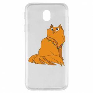 Samsung J7 2017 Case Christmas cat