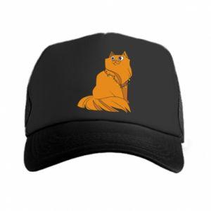 Trucker hat Christmas cat