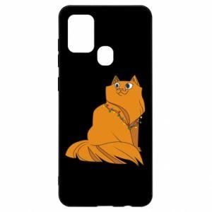 Samsung A21s Case Christmas cat