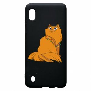Samsung A10 Case Christmas cat