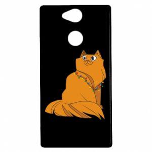 Etui na Sony Xperia XA2 Kot bożonarodzeniowy