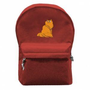 Plecak z przednią kieszenią Kot bożonarodzeniowy