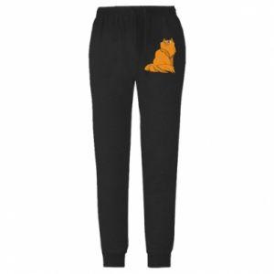 Męskie spodnie lekkie Christmas cat