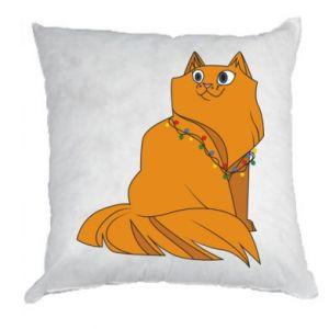Poduszka Kot bożonarodzeniowy