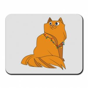 Mouse pad Christmas cat