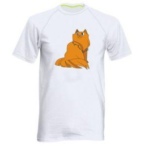 Men's sports t-shirt Christmas cat