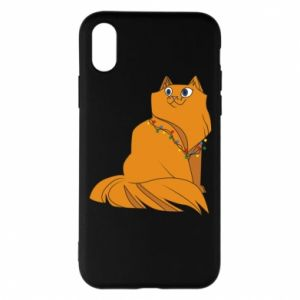 iPhone X/Xs Case Christmas cat