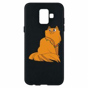 Samsung A6 2018 Case Christmas cat