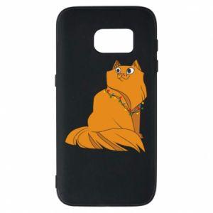 Samsung S7 Case Christmas cat