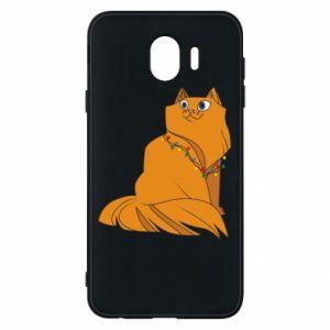 Samsung J4 Case Christmas cat