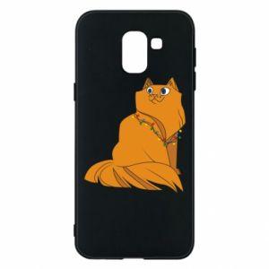 Samsung J6 Case Christmas cat