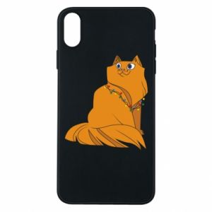 iPhone Xs Max Case Christmas cat