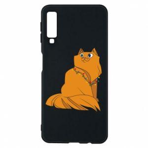 Samsung A7 2018 Case Christmas cat