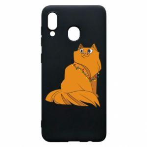 Samsung A30 Case Christmas cat