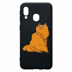 Samsung A40 Case Christmas cat