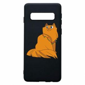 Samsung S10 Case Christmas cat