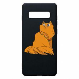 Samsung S10+ Case Christmas cat