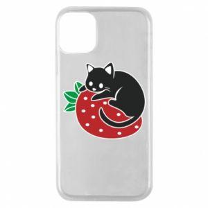Etui na iPhone 11 Pro Kot na truskawce