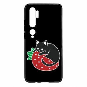 Etui na Xiaomi Mi Note 10 Kot na truskawce