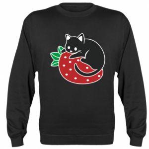 Bluza (raglan) Kot na truskawce