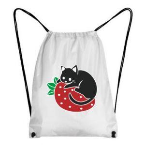 Plecak-worek Kot na truskawce