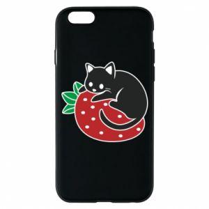 Etui na iPhone 6/6S Kot na truskawce