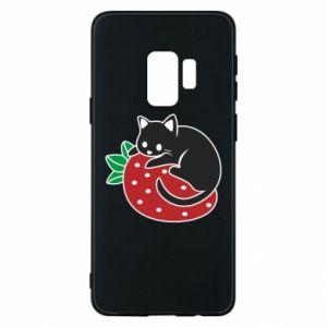 Etui na Samsung S9 Kot na truskawce