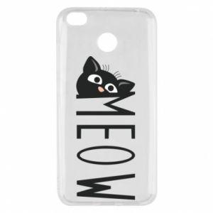 Etui na Xiaomi Redmi 4X Kot napis Meow