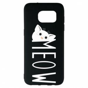 Etui na Samsung S7 EDGE Kot napis Meow