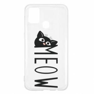 Etui na Samsung M31 Kot napis Meow