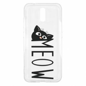 Etui na Nokia 2.3 Kot napis Meow