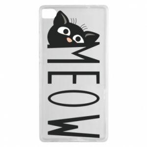 Etui na Huawei P8 Kot napis Meow