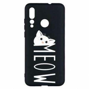 Etui na Huawei Nova 4 Kot napis Meow