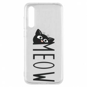Etui na Huawei P20 Pro Kot napis Meow