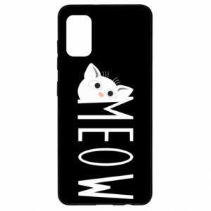 Etui na Samsung A41 Kot napis Meow