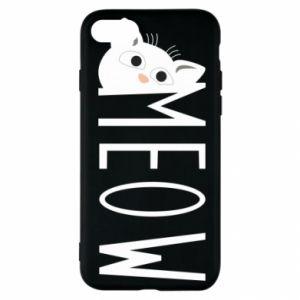 Etui na iPhone SE 2020 Kot napis Meow